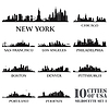 Silhouette Stadt Reihe von USA | Stock Vektrografik