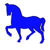 Синий силуэт лошади | Иллюстрация