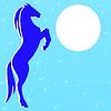 ID 3978829 | Silhouette Pferd auf blauem Hintergrund | Illustration mit hoher Auflösung | CLIPARTO