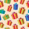 선물 상자의 원활한 배경 | Stock Vector Graphics