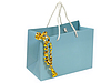 Blue Geschenk-Beutel mit goldenen dekorativen Band | Stock Foto