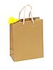 Geburtstagsgeschenk Tasche mit gelber Blume | Stock Foto