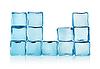 Die Zahlen des blauen Eiswürfel | Stock Foto