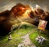 Blitz in den Bergen | Stock Foto