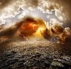 Blitz über Feld | Stock Foto