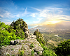 Górskie doliny z duchami | Stock Foto