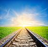 Kolej w polu | Stock Foto