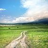 Drogowego i chmury burzowe | Stock Foto