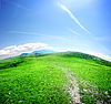 Drogi w górskiej dolinie | Stock Foto
