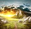 Szlak w górach | Stock Foto