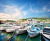 船在巴拉克拉瓦湾 | 免版税照片