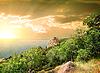 Berg Iphigenie im Morgengrauen | Stock Foto