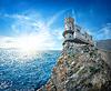 Swallow `s Nest-Schloss auf der Krim | Stock Foto