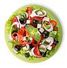 沙拉绿色板 | 免版税照片