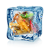 Chicken wings in ice cube | Stock Foto