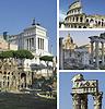 Kolaż zabytków Rzymu, Włochy | Stock Foto