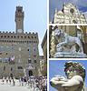 Kolaż zabytków, Florencja, Toskania, Włochy | Stock Foto