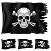 Три варианта пиратского флага | Векторный клипарт