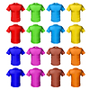 Bright farbigen shirts