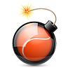 Abstrakt Tennisball wie Bombe geformt
