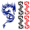 Asian Tattoo Drache | Stock Vektrografik