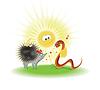 ID 3865360 | Nicer hedgehog and snake | Stockowa ilustracja wysokiej rozdzielczości | KLIPARTO