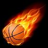 Basketball auf Feuer