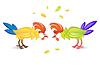 Hahn oder Federwild Hahnenkampf