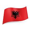 Staatsflagge von Albanien