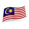 Staatsflagge von Malaysia