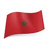 Staatsflagge von Marokko