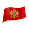Staatsflagge von Montenegro
