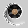 Vinyl Disc mit Musik Noten