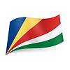 Staatsflagge der Seychellen