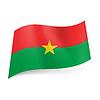 Staatliche Flagge von Burkina Faso