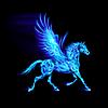 파란 불 페가수스 | Stock Vector Graphics