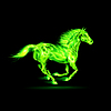 ID 4002116 | Koń zielony ogień | Klipart wektorowy | KLIPARTO