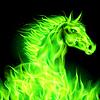 ID 4002207 | Grüne Feuer-Pferd | Stock Vektorgrafik | CLIPARTO