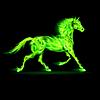 Grüne Feuer-Pferd