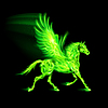 Green fire Pegasus