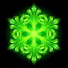 Green fire Schneeflocke