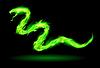 Green fire Schlange