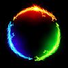 Feuer Drachen im Kreis