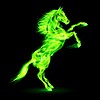 ID 4014672 | Fire horse rearing up | Klipart wektorowy | KLIPARTO