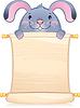 Kaninchen mit Scroll - Symbol der chinesischen Horoskop
