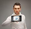 ID 3930189 | Mann mit Tablet-PC mit E-Mail-Symbol | Foto mit hoher Auflösung | CLIPARTO