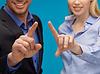 ID 3933031 | Mann und Frau, die Hände auf etwas zeigen | Foto mit hoher Auflösung | CLIPARTO
