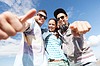 Grupa nastolatków poza | Stock Foto