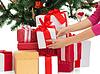 ID 4533809 | Woman with gifts and christmas tree | Foto stockowe wysokiej rozdzielczości | KLIPARTO