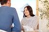 Glückliches Paar trinken Tee im Café oder Restaurant | Stock Photo